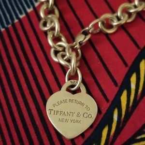AUTHENTIC Return to Tiffany Heart Chain bracelet